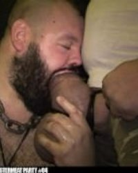 UNCUT huge cocks deep throated by slutty pig man