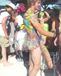 Popular body paint nudie