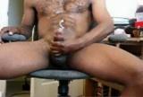 Black guy cums BIG load