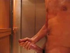 Huge Cock in Elevator