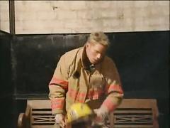Blond hunky fireman