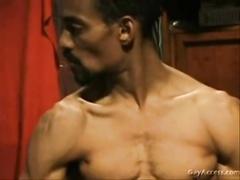 Sexy Black Dude Dick Beating