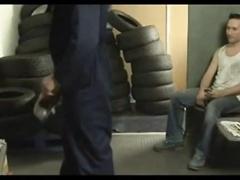 An expert tyre repairer