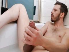 Wanking on bathroom