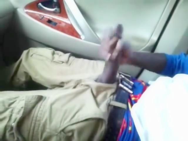 Huge black cock in the car