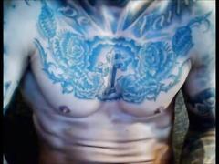 Hung tattoed jock wanking