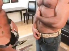 Thick Uncut Daddy Gets BJ