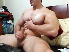 MUSCLE Fat Dick Jerks Off