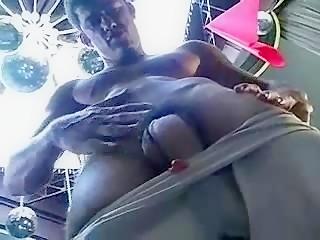 Manuel jerking his huge dick