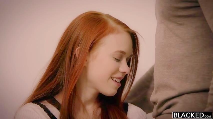 LIittle Redhead Gets a Black Pecker