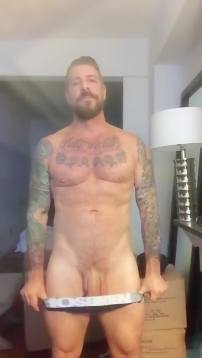 Rocco Steele plays with his large flaccid schlong