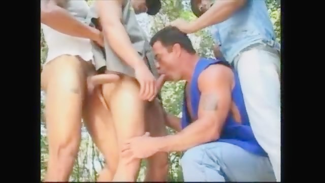 Outdoor Muscle Orgy