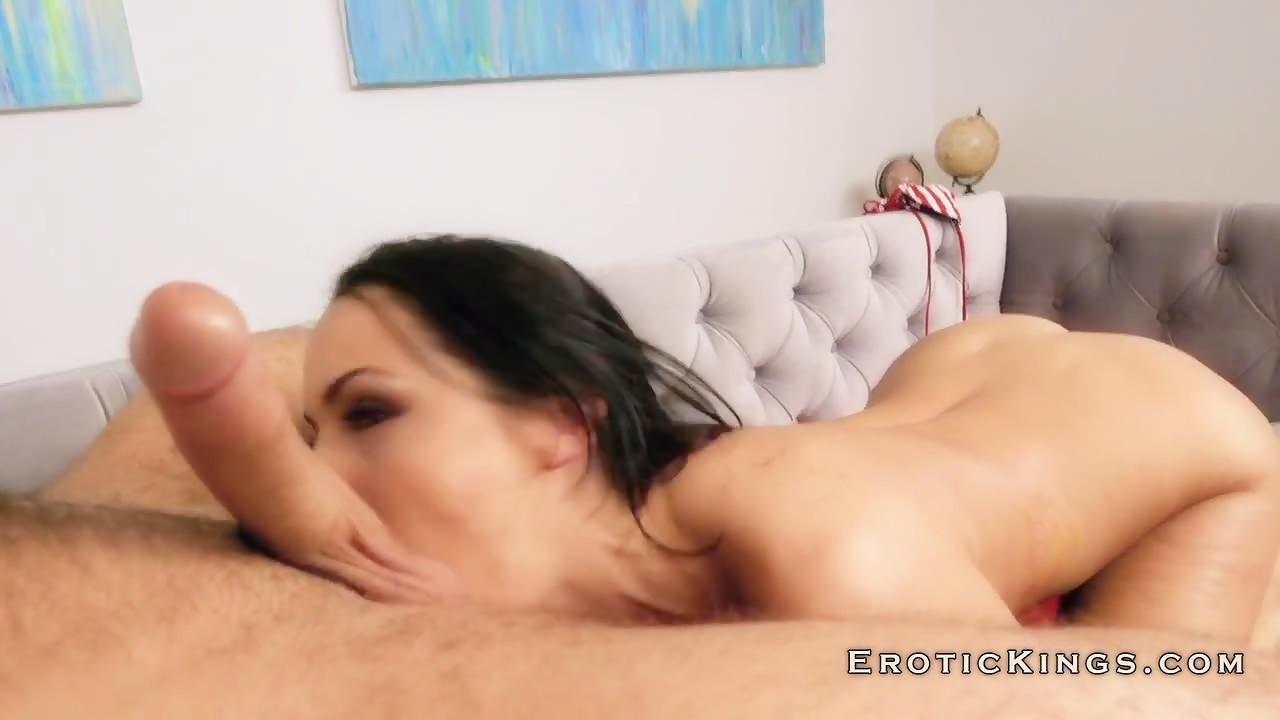 Brunette sofi with amazing big tits gets hard cock