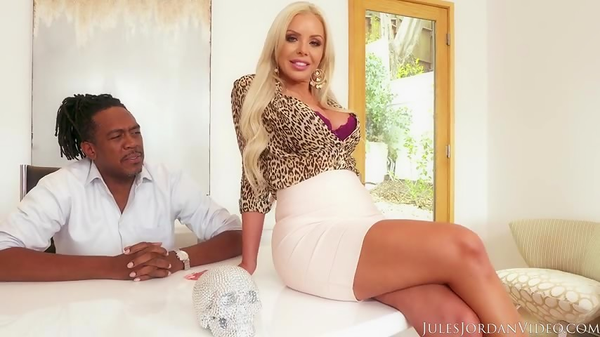 Blonde with a massive black dick