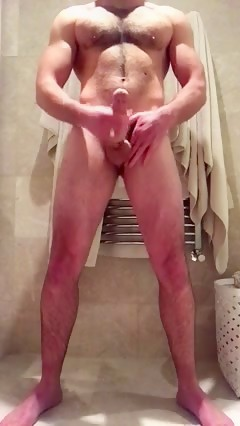 MUSCLE CUB shoots his load