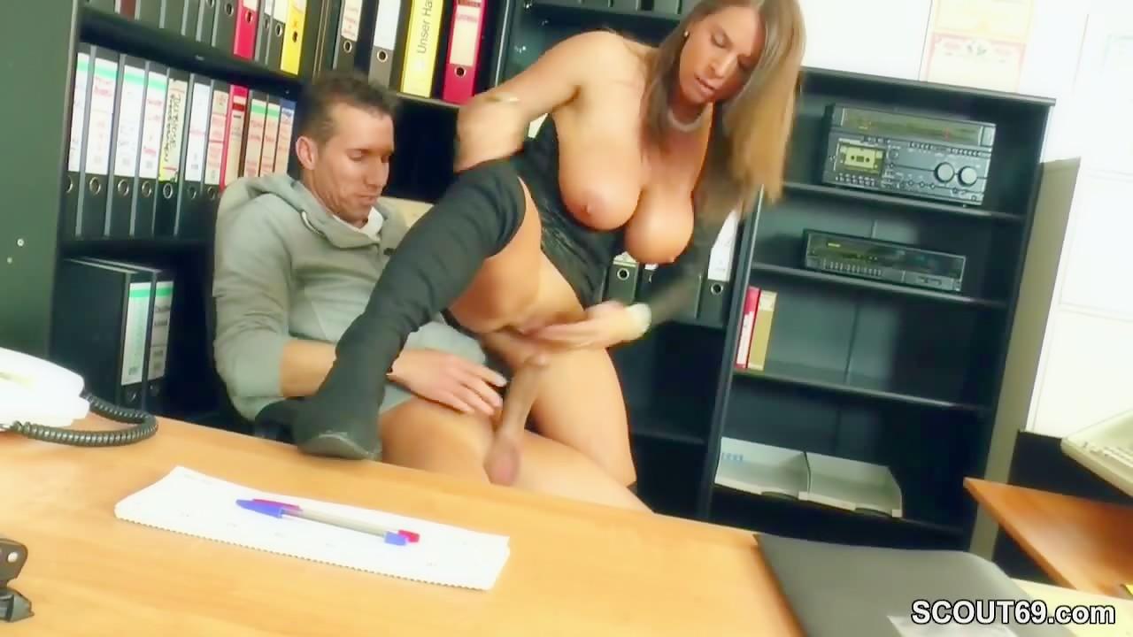 German Boss with huge Dick